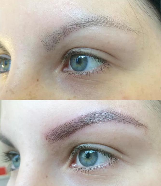 Henna Tattoo Eyebrows : Elegant henna eyebrows makedes